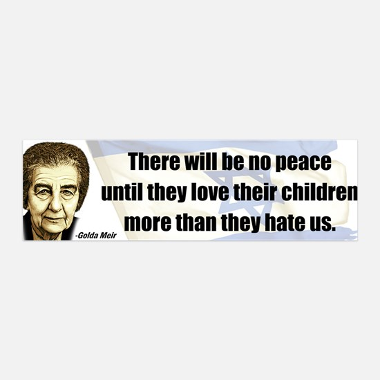 There will be no peace 36x11 Wall Peel