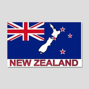 New Zealand Flag (labeled) 20x12 Wall Peel