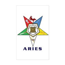 OES Aries Sign Sticker (Rectangle)
