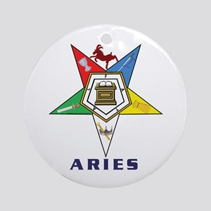 OES Aries Sign Ornament (Round)