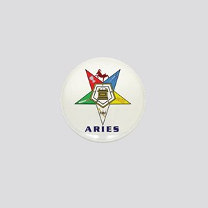 OES Aries Sign Mini Button