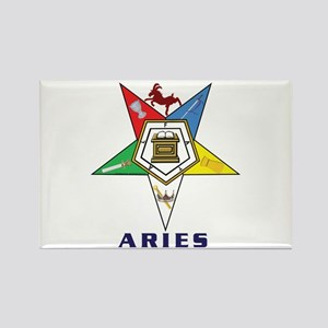 OES Aries Sign Rectangle Magnet