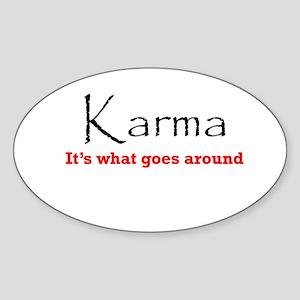 Karma1 Sticker (Oval)