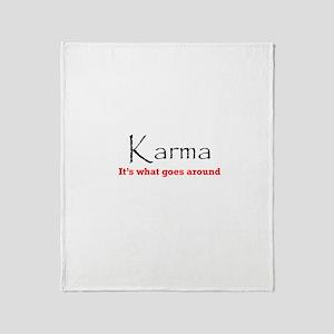 Karma1 Throw Blanket