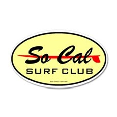 So Cal Surf Club 1 20x12 Oval Wall Peel