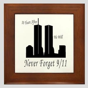 Never Forget 9/11 Framed Tile