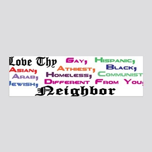 Love Thy Neighbor 36x11 Wall Peel