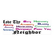 Love Thy Neighbor 36x11 Wall Peel