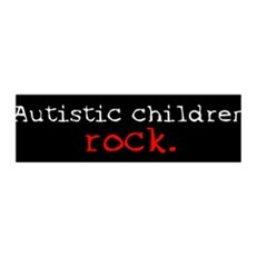 Autistic Children Rock 36x11 Wall Peel