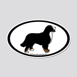 Bernese Mt. Dog (inner border) 20x12 Oval Wall Pee