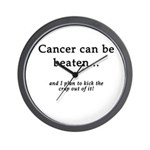 Cancer Can Be Beaten Wall Clock