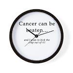 Cancer Can Be Beaten Wall Clock