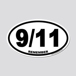 9/11 Euro 20x12 Oval Wall Peel