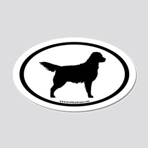 Golden Retriever Oval(inner border) 20x12 Oval Wal
