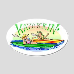 Kayakkin' 20x12 Oval Wall Peel