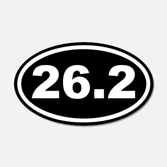 26.2 Marathon Running Black Euro 20x12 Oval Wall P