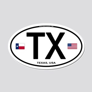 Texas Euro Oval - TX 20x12 Oval Wall Peel