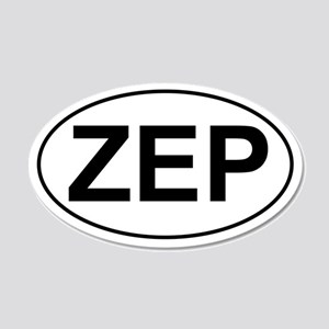 ZEP 20x12 Oval Wall Peel