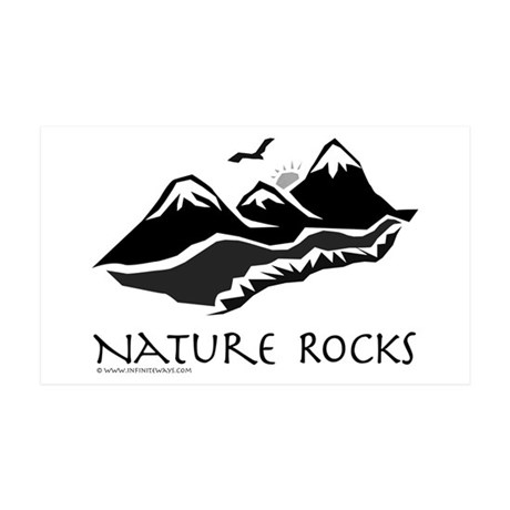Nature Rocks Mountains 35x21 Wall Peel