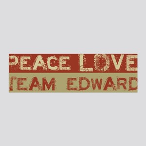 Peace Love Team Edward 36x11 Wall Peel