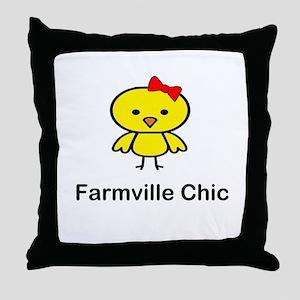 Farmville Chic Throw Pillow
