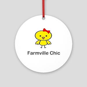 Farmville Chic Ornament (Round)