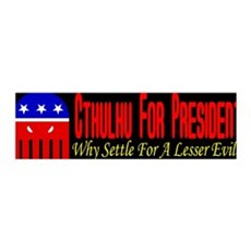 Cthulhu For President 36x11 Wall Peel