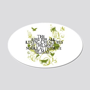 Darwin Noble - Animals and Floral 20x12 Oval Wall