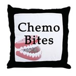 Chemo Bites Throw Pillow