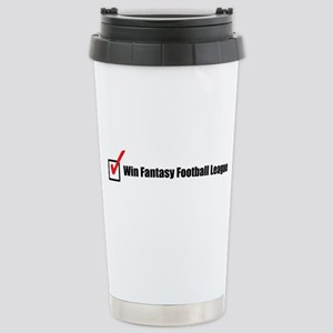 Win Fantasy Football League Stainless Steel Travel