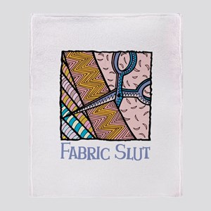 Fabric Slut Throw Blanket