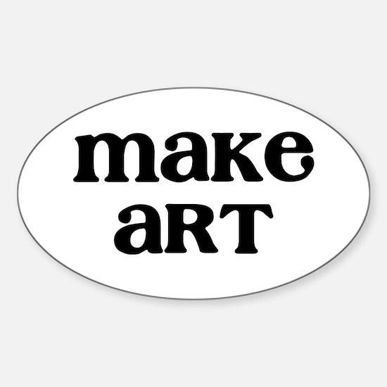 Make Art Sticker (Oval)
