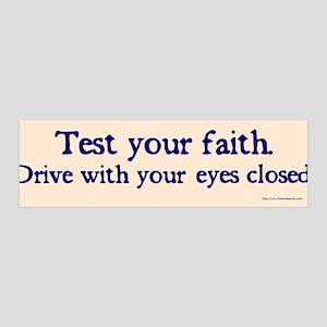 Test Your Faith 36x11 Wall Peel