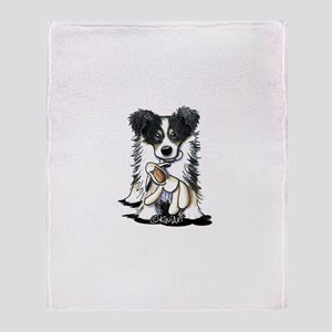 Tri-Color Border Collie Throw Blanket