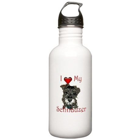 """I """"heart"""" my Schnauzer Stainless Water Bottle 1.0L"""
