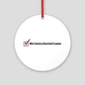 Win Fantasy Baseball League Ornament (Round)