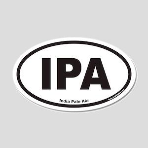 IPA India Pale Ale 20x12 Oval Wall Peel