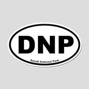 Denali National Park 20x12 Oval Wall Peel