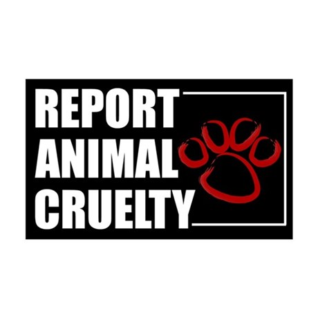 Report Cruelty Sticker
