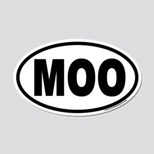 MOO Euro Style 20x12 Oval Wall Peel for Cow Lovers