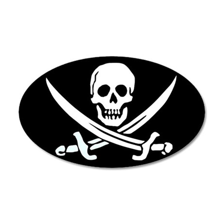 Jolly Roger 20x12 Oval Wall Peel