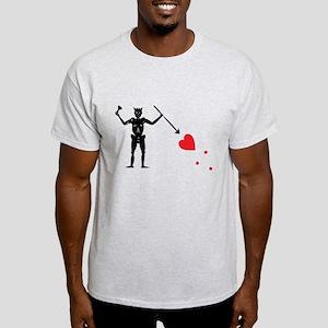 Pirate Flag Blackbeard Edward Light T-Shirt