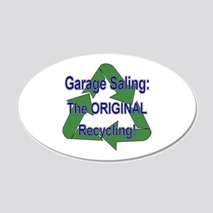Tho ORIGINAL Recycling! 20x12 Oval Wall Peel