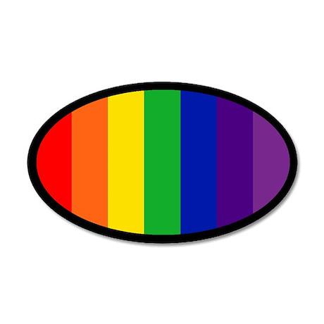 RAINBOW FLAG 20x12 Oval Wall Peel