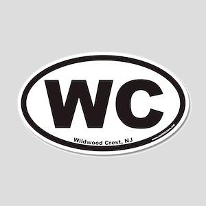 Wildwood Crest WC Euro 20x12 Oval Wall Peel