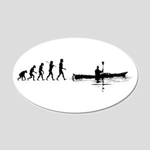 Kayaking 20x12 Oval Wall Peel