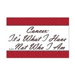 Cancer Not Who I Am Mini Poster Print