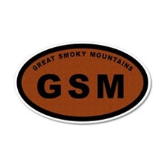 GSM-Great Smoky Mountains 20x12 Oval Wall Peel