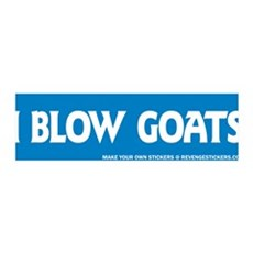 I Blow Goats - Revenge Sticker