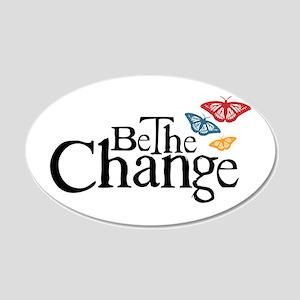 Gandhi - Change - Butterfly 20x12 Oval Wall Peel